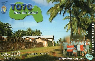 TO7C QSL Card--French Guyana--Salut Island--IOTA SA-020