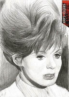 Dr Doctor Who Daleks 2150AD Sketch Card by Richard Salvucci of Barbara