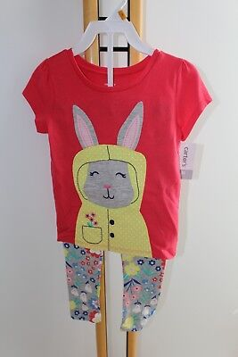 Carter's Carters Girls Size 3T NEW 2 Piece Bunny Outfit Top Floral Leggings NWT
