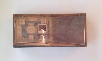 Antique Copper Letterpress Printing Block Stamp Industrial Charging Unit