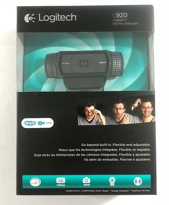 Webcams Fast Logitech HD Pro Webcam C920 Widescreen Video Calling and 1080p or