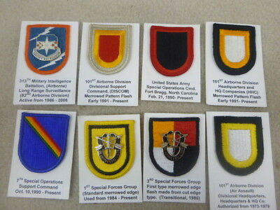 Super Id'd Group Of Beret Flashes & Pins From Collection ( P )