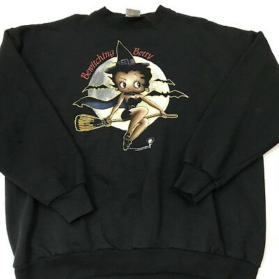 Vintage 90s BETTY BOOP Bewitching Betty Halloween Shirt Sweatshirt - X Large F26