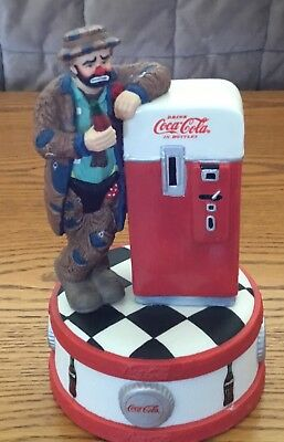 """Coca Cola Emmett Kelly Musical Figurine """"The Pause that Refreshes"""""""