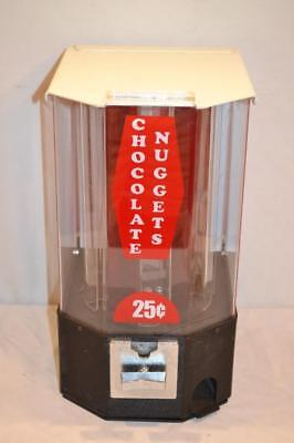 Candy / Chocolate Nugget Vending Machine 25 Cent  2 Keys