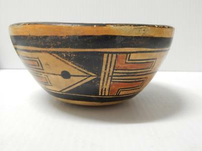Antique / Vintage Hopi Indian Pottery Food Bowl Pot - Early And  Very Old + Nr
