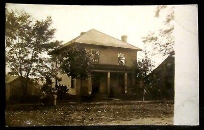 RPPC NORWICH, OH Ohio,Will's Home, PRIVATE Residence, REAL PHOTO pc Culbertson