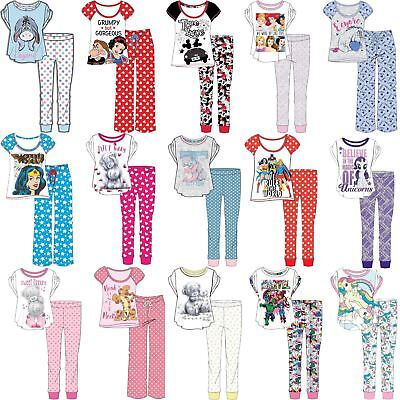 Ladies/Girls Character Pyjamas PJ Set Jersey Cotton Size 8,10,12,14,16,18,20,22
