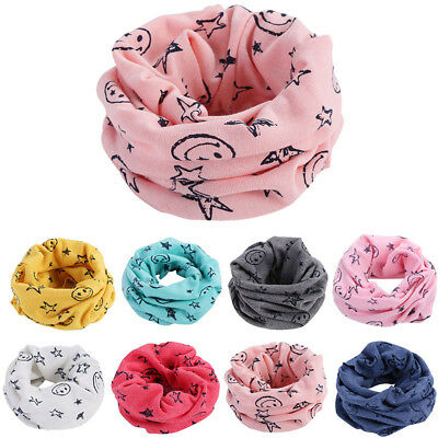 Baby Kids Cotton Neck Wrap Warmer Scarves Boys Girls Warm Winter Circle Scarf US