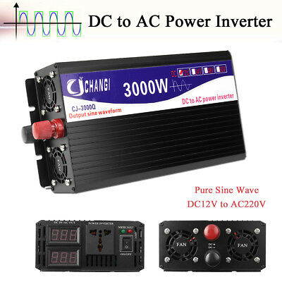 Solar Power Inverter 1000-8000W 12V to 110/220 Modified Pure Sine Wave