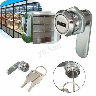 16mm Cam Lock File Cabinet Mailbox Toolbox Desk Drawer Cupboard Locker + 2