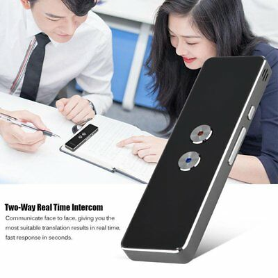 Portable Bluetooth Wireless Smart 2Way Real Time Multi-Language Voice Translator