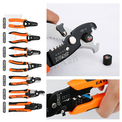 Automatic Cable Wire Stripper Cutter Crimper TAB Terminal Crimping Plier