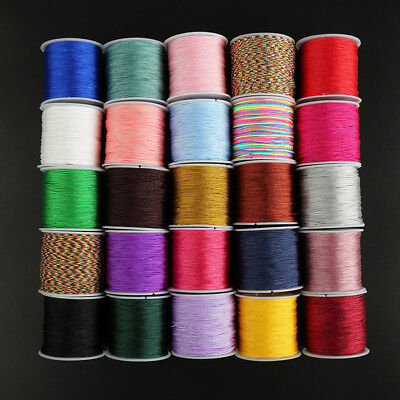 1Roll 45m Nylon Cord Thread Chinese Knot Macrame Rattail Bracelet Braided String