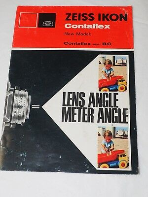 ZEISS IKON CONTAFLEX New Model manual super BC Original Germany Pamphlet