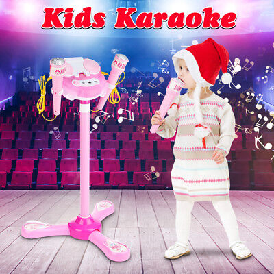 Karaoke Machine Set For Kid Home Girl Singing System Children Boy Microphone
