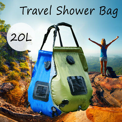 20L Foldable Solar Energy Heated Water Shower Bag Camp PVC Outdoor Travel