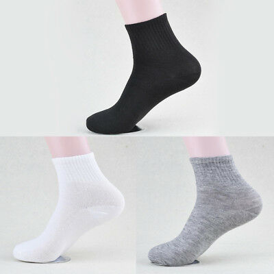 5Pairs Mens Soft Sports Socks 100% Cotton Casual Ankle Running Socks