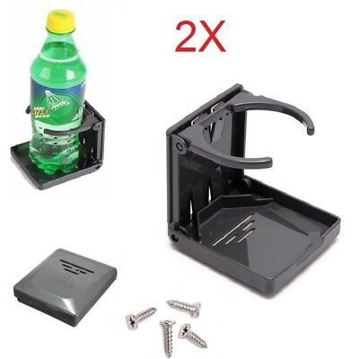 2PCS Folding Drink  Bottle Holder Boat Marine Caravan Car Truck Mount Fish Box