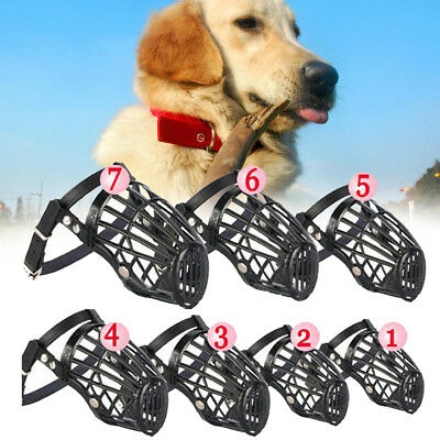 Hot sell Aadjustable Satety Dog Pet Puppy Muzzle Basket Cage 7 SIZE