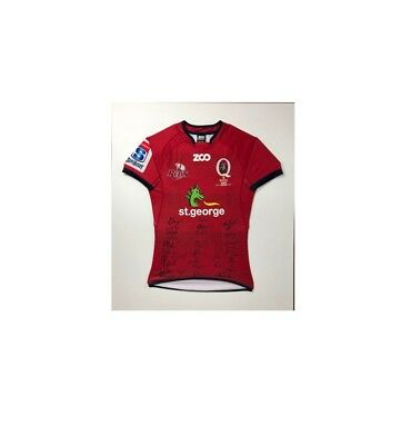 Framed Queensland Reds Rugby Union Jersey