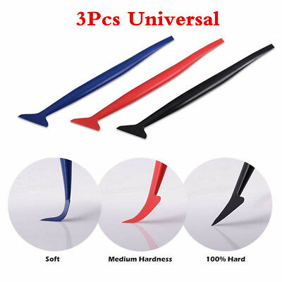 3PCS Car Vinyl Wrap Tuck Tools Micro Squeegee For Window Tint Decals Stickers
