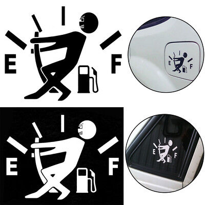 for Car JDM Decals Funny Vinyl Tank Sticker Pull Fuel Tank Pointer To Full