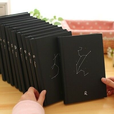 Twelve Constellation Personality Notebooks Hard Cover Diary Notepad Journal WE9X