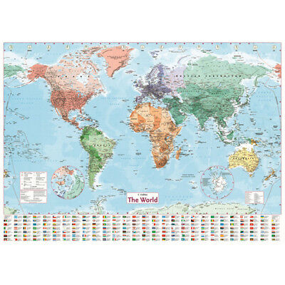 Wall Sticker MAP OF THE WORLD Wall Chart Poster Home Art Decor World Map WE9