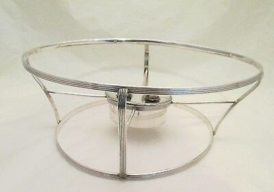A Fine Rare Old Sheffield Plate Dish Ring with Double Burner - late 18thC