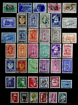 Greece: 1940's To 50's Stamp Collection Of Complete Sets