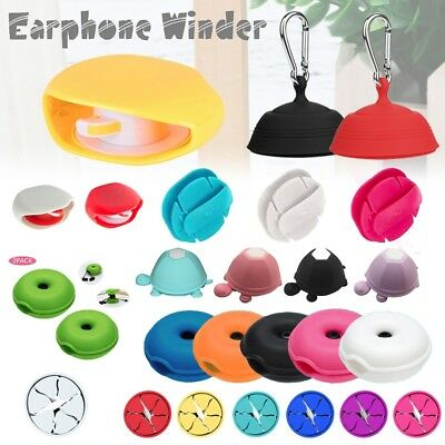 Mini Earphone Holder Cable Carrying Organizer Winder Hard Stretch Earbud Storage