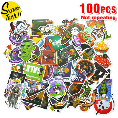 100 Random Skateboard Vinyl Sticker Skate Graffiti Laptop Luggage Car Bomb Decal