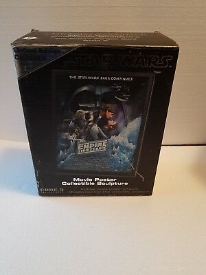 Star Wars Empire Strikes Back Movie Poster 3D Collectible Sculture Mib