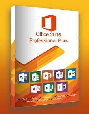 Microsoft Office 2016 Professional Plus Digital Key Instant Delivery Lifetime