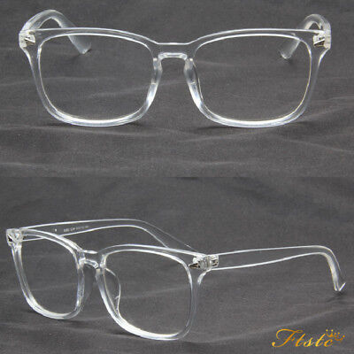 2018 Transparent Eyeglass Frame Clear Glasses Full Rim Retro Spectacles AU Stock