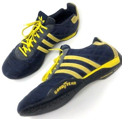 timeless design 2af91 88099 ... ireland adidas tuscany goodyear racing driving shoes blue yellow size  10 rare dcb18 5a15b