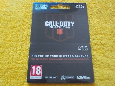 Blizzard Entertainment Call Of Duty Black Ops Plastic Empty Gift Card/voucher