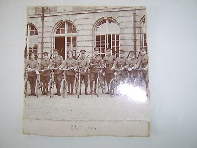Interesting Ww1 Photograph Soldiers On Bicycles