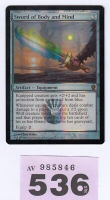MTG Magic the Gathering - Sword of Body and Mind - Foil - From the Vault Relics