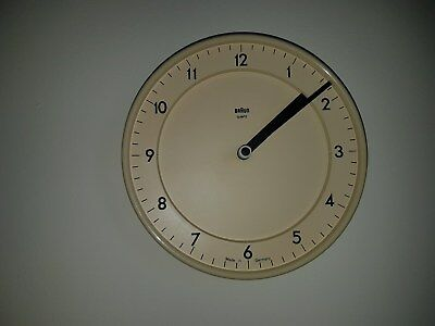Vintage 70s 80s Braun Battery wall clock Retro Quartz