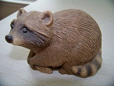Vintage Sandicast Raccoon - Signed by Sandra Brue - #250 - Weighs almost 3 lbs.