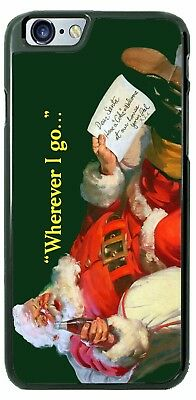 COCA-COLA SANTA CHRISTMAS CUSTOM PHONE CASE COVER FOR iPHONE SAMSUNG LG HTC etc