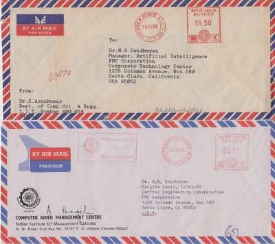 India - Assortment of Franked Air Mail Covers (2no Air Mails) 1989