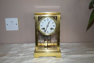 Antique French mantel clock with a mercury pendulum