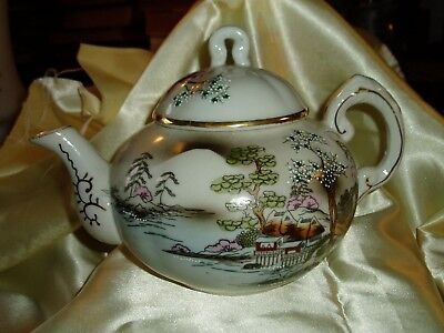 Vintage Asian Hand Painted, Made in Japan, Fine China, TEA POT
