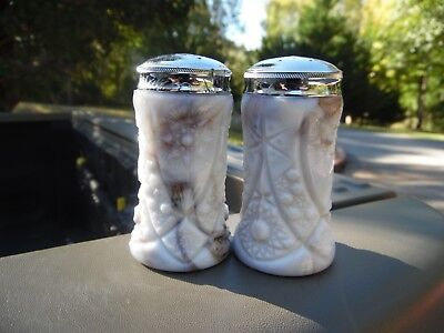 Rare Pair Of 1940's John Kemple Glass Salt And Pepper Shakers
