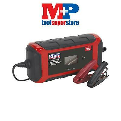 Sealey SMC14 Battery Charger Compact Auto Maintenance 8A - 9-Cycle 12V