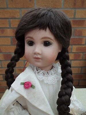 Dolls Wig In Dark Brown With Plaits And Fringe Kate