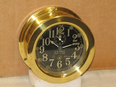 Seth Thomas Antique U.s.navy Boat Clock~ 3 Inch Dial~Ww1~1917~Restored